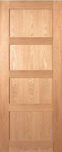 Coventry Four Panel Shaker Style Oak Door - July 20 2019 at Wooden Glass Door, Wooden Doors, Glass Doors, Shaker Style Doors, Shaker Doors, Oak Doors, Panel Doors, Hanging Barn Doors, Custom Wood Doors