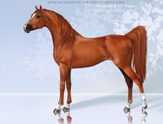 American saddlebred horse, a pretty breed if you ask me other colors will be available in the game Other breeds: art © Monika