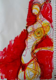 30 minute exploration drawing and painting   from a model by Kat Ostrow April 2012