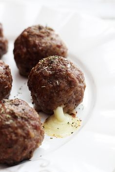 Slow Cooker Mozzarella Stuffed Meatballs...I made these today and they were really, really good. (I did use diced onion instead of onion powder)  A keeper!