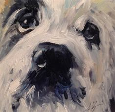 "Daily Paintworks - ""Freckles"" - Original Fine Art for Sale - © Annette Balesteri"