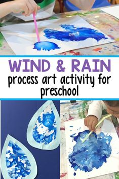 Rain and Wind Process Art for Spring