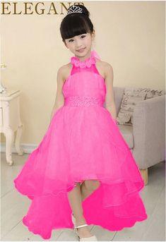 New Summer Baby Girls Party Dress Evening Wear Long Tail 8d5e1de9dacd
