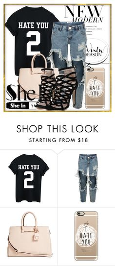 """""""T-Shirt"""" by ayannap ❤ liked on Polyvore featuring One Teaspoon, GUESS and Casetify"""