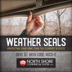 Energy-saving garage door weather seals from North Shore Commercial Door will save you money while protecting what's inside your home garage or commercial warehouse from drafts, flooding, pests and dirt. Garage Door Weather Stripping, Garage Door Weather Seal, Garage House, Garage Doors, Industrial Garage Door, Garage Door Threshold, Home Insulation, Protecting Your Home, Save Energy