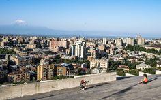 Cascade Complex, Yerevan, Armenia, 2017 - More on http://roman.rogner.cz/armenie-cerven-2017, follow me on https://www.instagram.com/roman.rogner.cz. #cascade #complex #yerevan #armenia #jerevan #armenie #city #morning #sky #mount #ararat #photographer #model