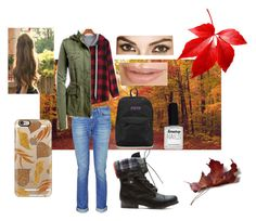 """""""Back to School Fall Outfit"""" by hasnabadji on Polyvore featuring rag & bone, Aéropostale, JanSport, Limedrop and Casetify"""