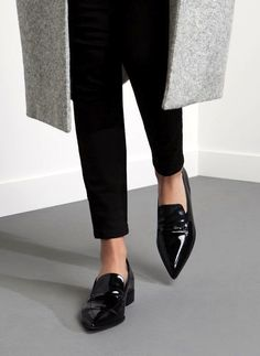 A Work-Perfect Way to Wear Your Pointed-Toe Loafers via @WhoWhatWear