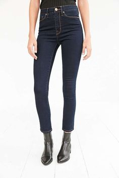 Slide View: 2: BDG Twig High-Rise Skinny Jean - Blue Lagoon