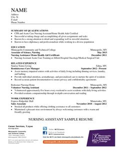 home health nursing assistant resume sample - Cna Template Resume