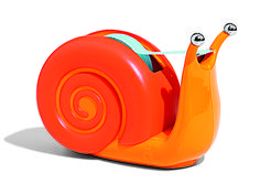 A snail-shaped holder is more fun than any garden-variety version. #SchoolSupplies