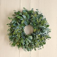 kranz Our decorative hand-pieced garland brings home the bounty of the farmer's market with a gorgeous display of colorful dried flowers and fragrant herbs. Hand made on a family-owned farm, the garland adds natural beauty to a table, sideboard or buffet. Wreaths And Garlands, Xmas Wreaths, Flower Garlands, Wreaths For Front Door, Outdoor Wreaths, Floral Wreaths, Christmas Flowers, Noel Christmas, Christmas Decorations