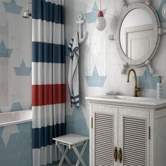 Creative Geometrics Light Blue tiles for the bathroom - use how you want to create your pattern.
