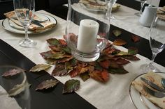 Live a Little Wilder: fall leaf centerpiece {DIY tutorial} COULD use local sweet gum leaves, ?preserved to use. This season for next season? Fall Crafts, Holiday Crafts, Sweet Gum, Fall Flower Arrangements, Diy Centerpieces, Decorations, Australia Day, Fall Flowers, Event Decor