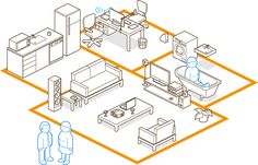 spaces by anil yanik, via Behance Isometric Sketch, Isometric Art, Isometric Design, Icon Design, Layout Design, Architecture Graphics, Architecture Illustrations, Chris Ware, Space Illustration