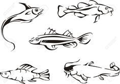 Картинки по запросу крючок рыба силуэт