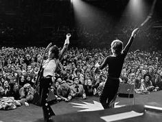 Keith Richards (left) and Mick Jagger (right) of The Rolling Stones - Auburn, Alabama.S Tour. (Photo: Ethan Russell - All Rights Reserved) The Rolling Stones, Keith Richards, Mick Jagger, Le Concert, Rock Concert, Rock And Roll, Stevie Wonder, Bob Dylan, Artists