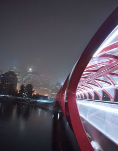 Peace Bridge - Calgary. Designed by Santiago Calatrava. We Love It!