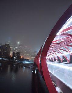 Peace Bridge - Calgary. Designed by Santiago Calatrava. We Love It!