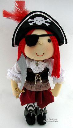 """""""Piratinha""""  by Tata Bonecas, via Flickr"""