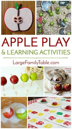 Homeschool Apple Play and Learning Activities Apple season is upon us! There are so many fun and educationalthings you can do that incorporate apples. Whether using real applesor apple-themed activities, your kidscan make memories and learn along the way this fall with the many creative ideas you'll find below. From edible science, to making art …