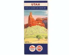 Vintage Utah 1952 Road Map 15 page booklet map from Chevron. Cover is Capitol Reef National Monument.  This is so cool!  From StraySquirrels on Etsy