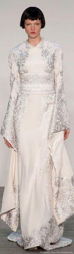 L'Wren Scott | S/S 2014 (western wedding kimono?)