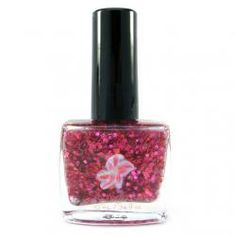 Stargazer Nail Polish - www.chloeandbella.com Stargazer is a summery polish that is composed of a light pink shimmering base. It's then enhanced with copious amounts of fuchsia, pink, red, and purple holographic and metallic glitters. Finally, the finishing touch is added with a small amount of yellow dots.