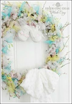 Baby Shower Wreath to Greet Your Special Guests