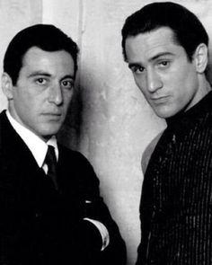 Al Pacino and Robert De Niro 1972