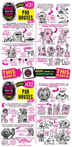 How to draw POD HOUSES tutorial by STUDIOBLINKTWICE.deviantart.com on @DeviantArt