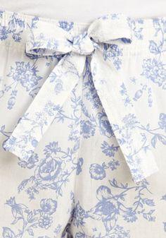 F Floral Printed Cuffed Pyjama Bottoms
