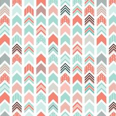 Chevron Arrow Pointer - Coral, Blue, Black fabric by ebygomm on Spoonflower - custom fabric Aztec Pattern Wallpaper, Wallpaper Iphone Cute, Cute Wallpapers, Fabric Design, Pattern Design, Chevron Azul, Cute Backgrounds, Spoonflower Fabric