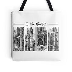 I like gothic - ink graphic
