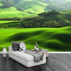 HD Lawn Mountain Natural Scenery Photo Wall Mural TV Living Room Sofa Background Home Decoration Seamless Wallpaper Murals Foto 3d, 3d Wallpaper Mural, Home Wallpaper, Decorating Above Kitchen Cabinets, Kitchen Decor, Natural Scenery, Diy Garden Decor, Garden Decorations, Living Room Sofa