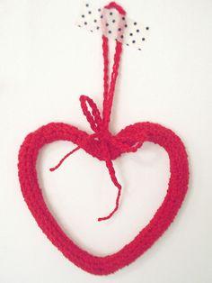 Coração em crochê - Porta-LuVa