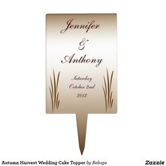 Autumn Harvest Wedding Cake Topper