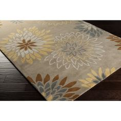 Shop for Hand-tufted Dazzle Floral Wool Area Rug (4' x 6'). Get free shipping at Overstock.com - Your Online Home Decor Outlet Store! Get 5% in rewards with Club O! - 16374290