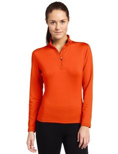 aa22947836e Hot Chillys Women s Micro-Elite Chamois Solid Zip-Tee