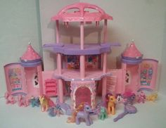 My Little Pony Princess Crystal Rainbow Pop-Up Castle- With 12 Ponies & Wand #MyLittlePony