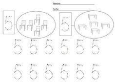 5 Numbers Preschool, Math Numbers, Preschool Printables, Preschool Math, Preschool Worksheets, Phonics Song, Alphabet Phonics, Kids Learning Alphabet, Teaching Kids