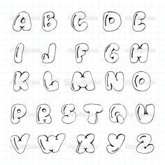 Patched Up Alphabet Hand Lettering Alphabet, Doodle Lettering, Creative Lettering, Graffiti Lettering, Lettering Styles, Doodle Fonts, Alphabet Writing, Fun Fonts Alphabet, Doodle Alphabet