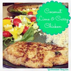Coconut, Lime and Curry Chicken | http://lifeabundant-blog.com