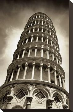 Leaning Tower of Pisa Stretched Canvas Print by Chris Bliss at Art.co.uk