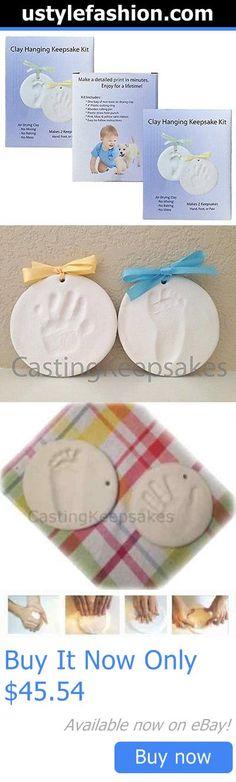 Handprint Kits: Clay Handprint, Footprint Or Paw Print Keepsake Kit - Dries Stone Hard - No #21W BUY IT NOW ONLY: $45.54 #ustylefashionHandprintKits OR #ustylefashion