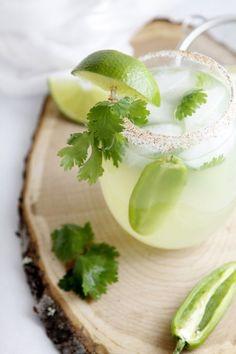 Cilantro Jalapeno Margarita   22 Margarita Recipes (for National Margarita Day - February 22)