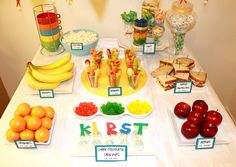 Colorfully Healthy Birthday Party #healthy #party #diy