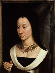 Maria Portinari (Maria Maddalena Baroncelli), Hans Memling, c 1470. Museo Metropolitano de Arte de Nueva York.