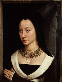 Maria Portinari (Maria Maddalena Baroncelli, born 1456) by Hans Memling (ca. 1470)