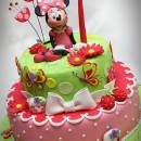 Minnie in a strawberry garden